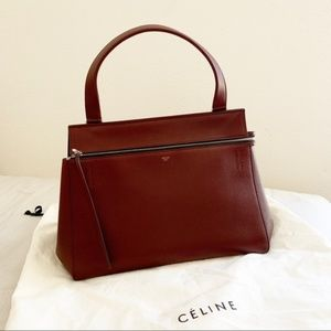 Celine Edge Wine Handbag